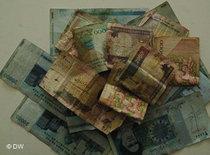 Iranian Toman bills (photo: DW)
