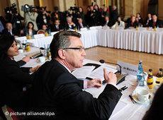 Thomas de Maizière at the Islam Conference (photo: dpa)