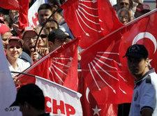 CHP supporters at a rally in Istanbul (photo: AP)