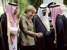 Chancellor Angela Merkel on her recent state visit to Saudi Arabia (photo: AP)