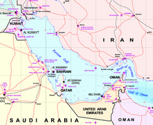Map of the states of the Persian Gulf; source: © Wikipedia