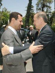 The Turkish prime minister, Recep Tayyip Erdogan (right), and the Syrian president, Bashar Assad (photo: dpa)