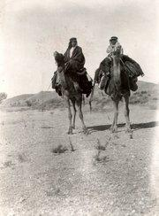 Historical picture of Muhammad Asad on his journey through the Arabian Desert
