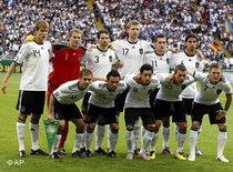 Photo of the German soccer team (photo: AP)