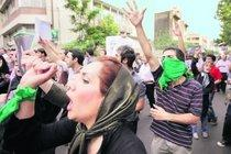Supporters of the green movement demonstrating against the Iranian regime (photo: AP)