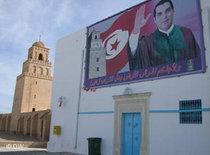 A mural of president Ben Ali in a street in Tunisia (photo: DW)