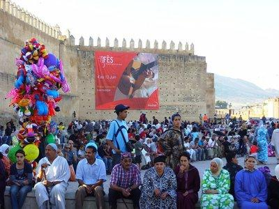 Audience at the festival in the city of Fez (photo: Detlef Langer)