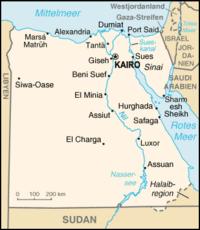 Map of Egypt (source: Wikipedia)