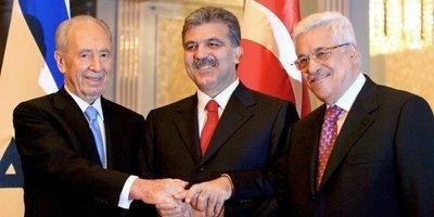 Israeli president Shimon Peres, Turkish president Abdullah Gül, Palestinien president Mahmud Abbas (photo: dpa)