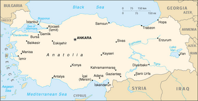 Map of Turkey (source: Wikipedia)