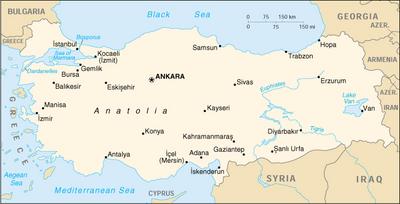 Map of Turkey (source: Wikipedia)