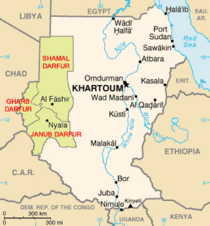 Map of Sudan and its neighbouring countries (source: Wikipedia)