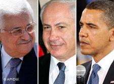 Abbas, Netanyahu, Obama (photo: AP/DW)