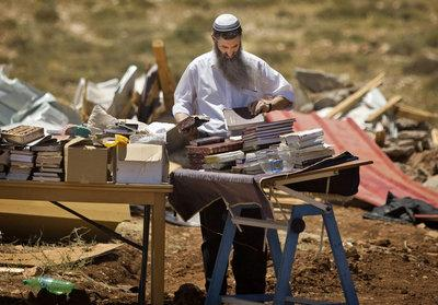 Jewish settler in the West Bank (photo: AP)