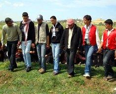 Palestinian youth perform traditional Dabka dancing in the fields of Gaza to commemorate Land Day (photo: Wikipedia)