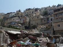 Demolished Palestinian houses (photo: DW)