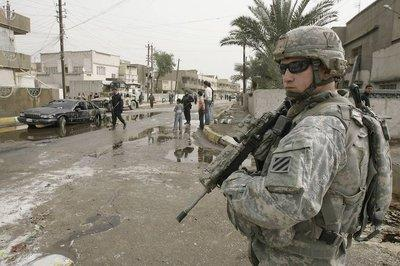 US soldier in Baghdad (photo: AP)