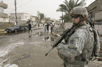 US soldier in Baghdad (photo: AP)