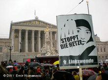 Demonstration against racism and Islamophobia in Vienna (photo: DW/Emir Nuvanovic)