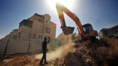 Settlement construction site in the West Bank (photo: dpa)