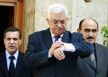 Abbas in Egypt (photo: AP)