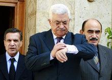 Abbas in Egypt (photo: AP)