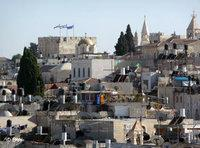 The Old City of Jerusalem – to the right is the tower of the Franciscan monastery (photo: DW)