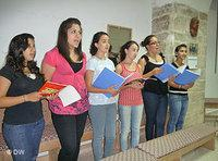 Members of the youth choir of the Magnificat music school (photo: DW)