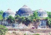 The Babri Mosque before it was demolished (photo: Wikipedia)