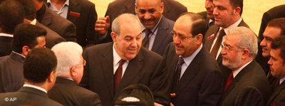 Iyad Allawi and Nuri al-Maliki among Iraqi MPs (photo: AP)