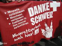Demonstration against mosque building by German nationalists in Duisburg (photo: DW/Hicham Driuouich)