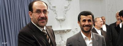 Nuri Maliki and Mahmoud Ahmadinejad (photo: AP)