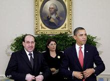 Obama and Maliki in Washington (photo: AP)