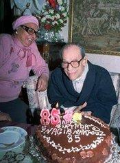 Naguib Mahfouz celebrating his 85th birthday (photo: AP)