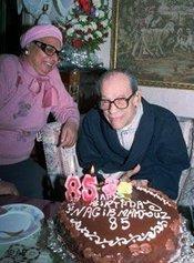 Naguib Mahfouz celebrating his 85th birthday (photo: AP)