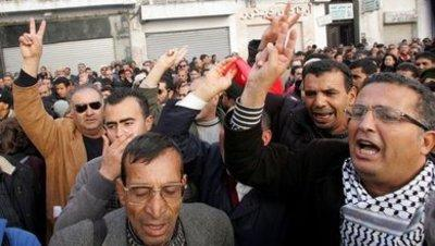 Protests against the Ben Ali regime in Tunisia (photo: dpa)