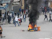 Violent protests in Annaba (photo: AP)