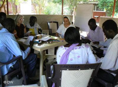 A Radio Bakhita editorial meeting (photo DW)