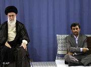 Ayatollah Ali Khamenei (left) and Mahmoud Ahmadinejad (photo: AP)