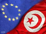 Photo montage of the EU and Tunisian flags (photo: DW)