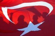 Shadows on the Turkish flag (photo: AP)