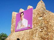 A poster of Zine el Abidine Ben Ali in Hammamet (photo: DW)