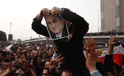 Demonstration against Hosni Mubarak in Cairo's Tahrir Square (photo: AP)