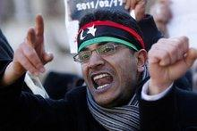 A young protester during a demonstration against Gaddafi (photo: AP/dapd)