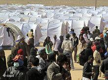 Refugee camp at the Libyan-Tunisian border (photo: dapd)