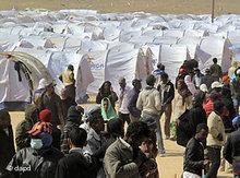 Refugee camp at the Libyan-Tunisian border (photo: dapd)