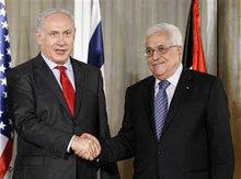 President of the Palestinian National Authority Abbas and Isreali Prime Minister Netanyahu in Washington (photo: AP)