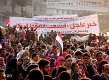 Anti-regime protests at Tahrir Square in Cairo (photo: DW)