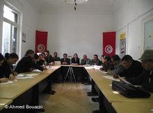 Meeting of an oppositional group in Tunisia (photo: DW)