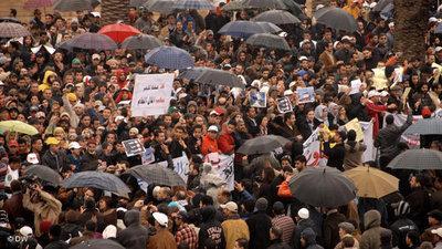 Demonstration of regime critics in Rabat (photo: DW)